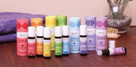 Grateful Plains Organics offers Aura Cacia chakra blends