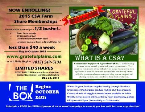 2015 Fall Enrollment flier